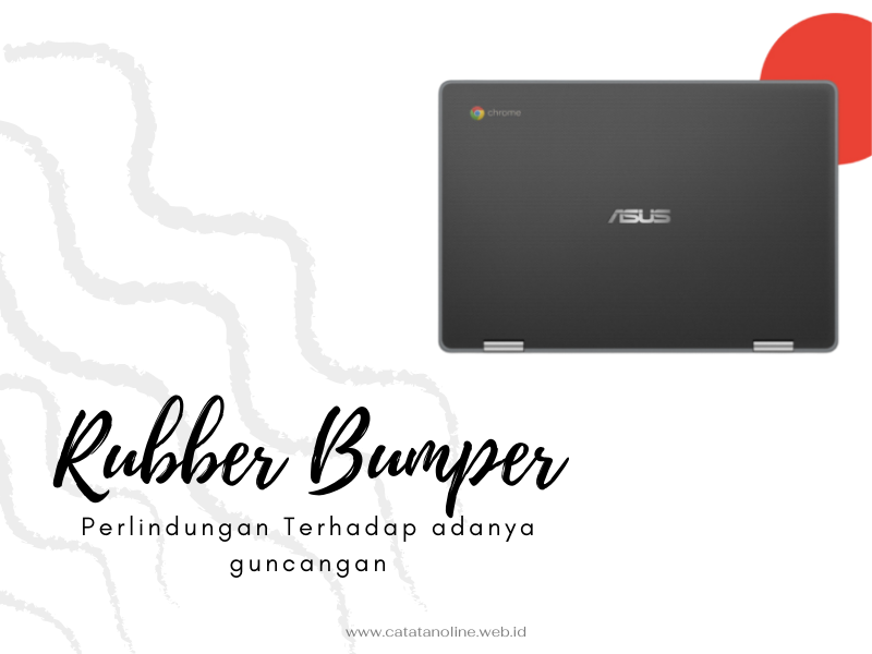 Rubber Bumper pada ASUS Chromebook