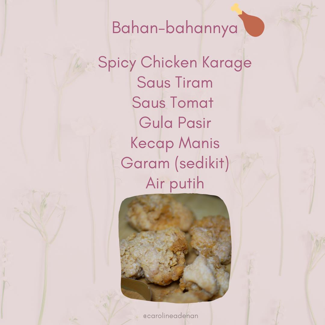 Spicy Chicken Karaage Saus Asam Manis 02