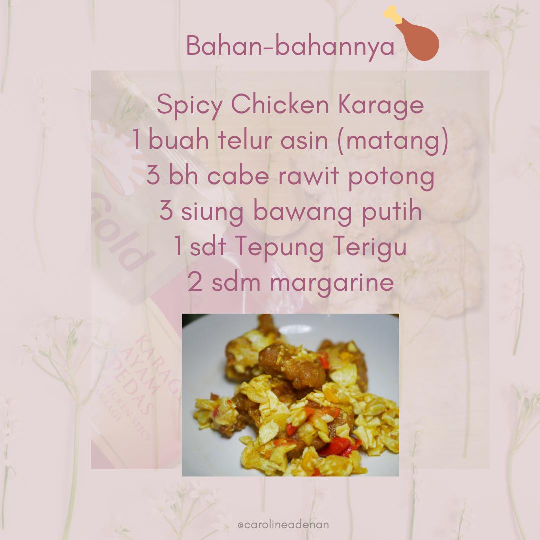 Spicy Chicken Karaage Saos Telor Asin Pedas 02
