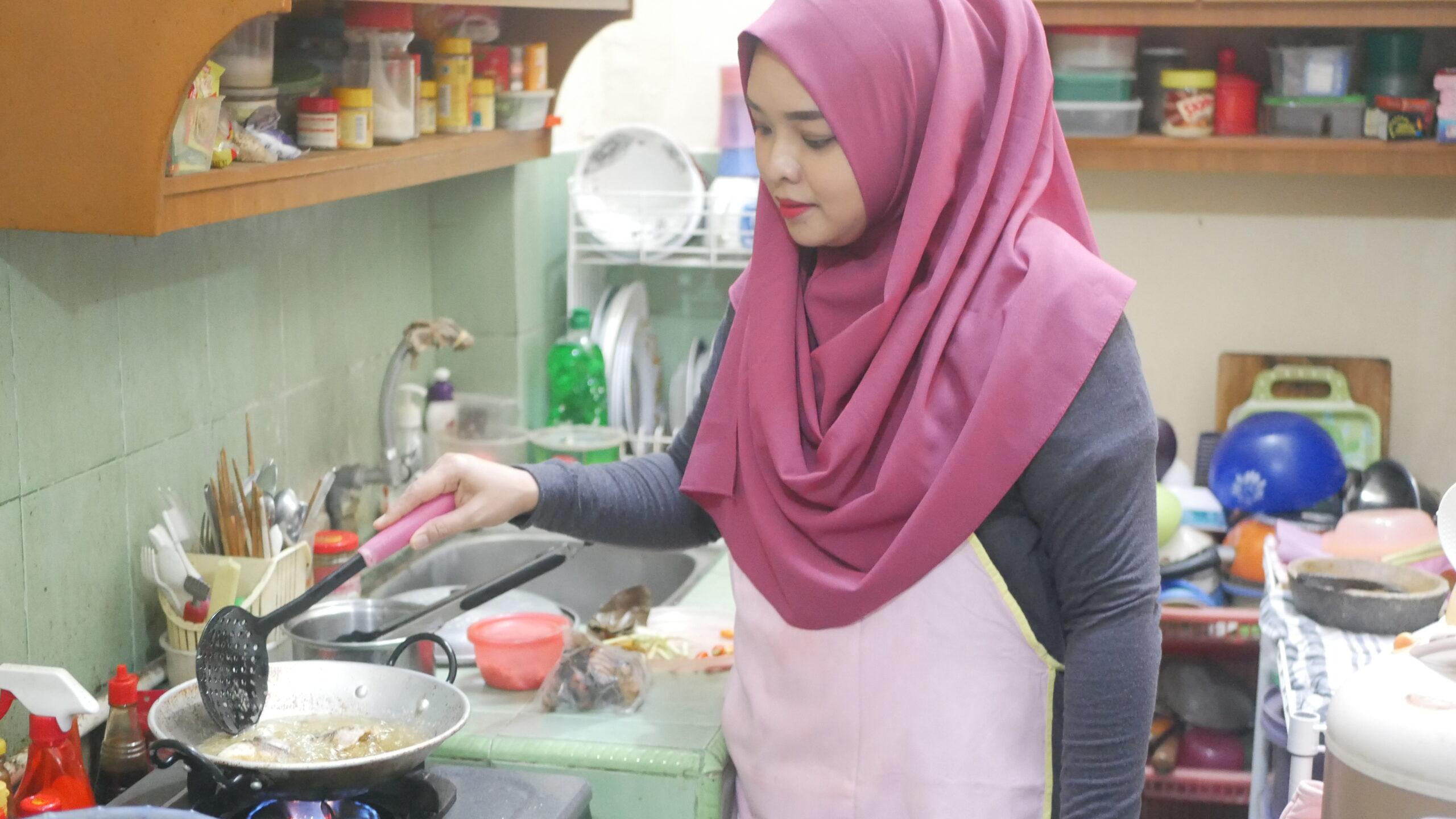 Oline memasak saat WFH