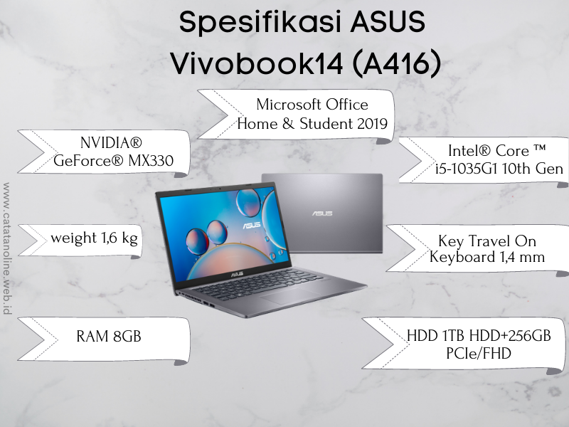 Spesifikasi ASUS Vivobook 14 A416