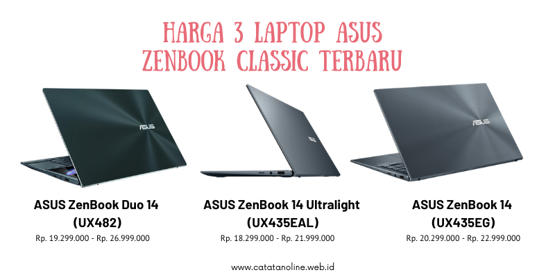 Harga 3 Zenbook Classic Terbaru