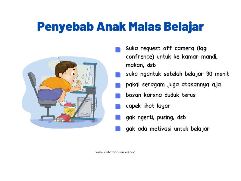 Penyebab Anak Malas Belajar